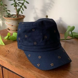 Japanese Embroidered Stars Conductor Cap